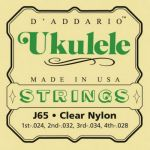 Струны D'Addario для укулеле, сопрано J65