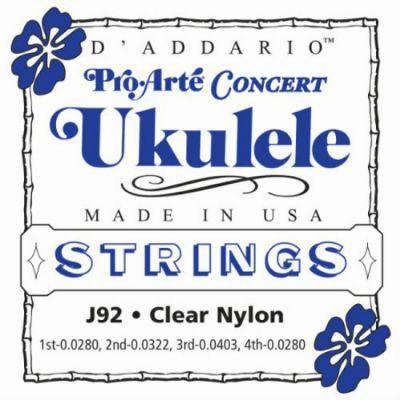 Струны D'Addario для укулеле concert J92