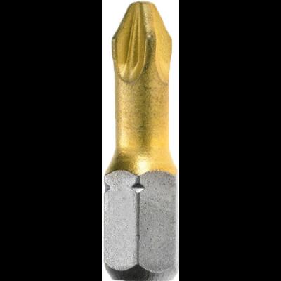 Бита Bosch PZ-2 x 25 мм Tin (3 шт), блистер 2607001593