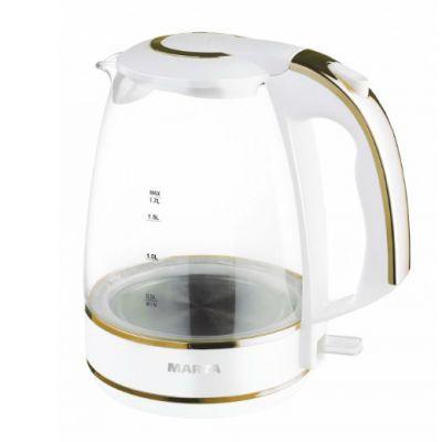 Электрический чайник Marta MT-1054 white gold