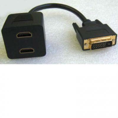 Кабель Espada -разветвитель DVI-D 25M to HDMI 19F x 2 EDVIM2xHDMIF25