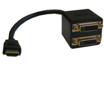 Кабель Espada -разветвитель HDMI 19M to DVI-D 25F x 2 EHDMIM2xDVIF25