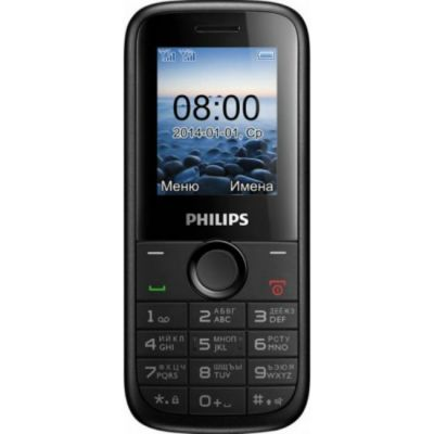 Телефон Philips E120 Black 8712581722234