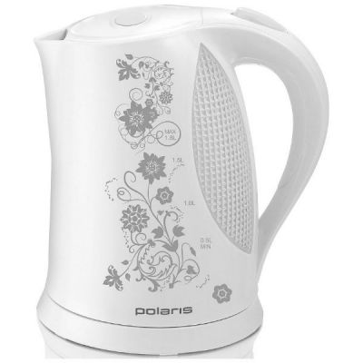 Электрический чайник Polaris PWK 1822CLR (белый/серый)