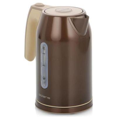 Электрический чайник Polaris PWK 1721CAL (коричневый/бежевый)