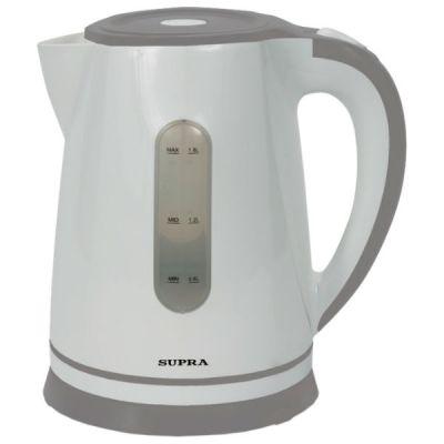 Электрический чайник Supra KES-1822 белый/серый