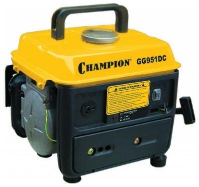 Генератор CHAMPION бензиновый GG951DC (0.65/0.72 кВт, OHV 2 л.с., 2-х такт., 4.5 л, 16 кг, 0.7 л/ч, 12 V)