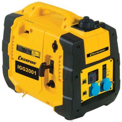 Генератор CHAMPION бензиновый инверторного типа IGG2001 (1,6/2 кВт, OHV 2.72 л.с., 5.0 л, 24 кг, 12 V)