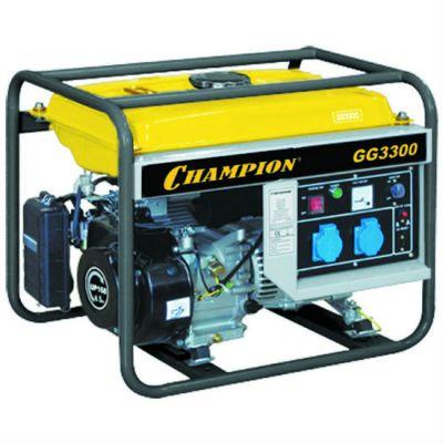 Генератор CHAMPION бензиновый GG3300 (2.6/3 кВт, OHV 7 л.с., 15 л, 46.5 кг, 1.4 л/ч, 12 V)