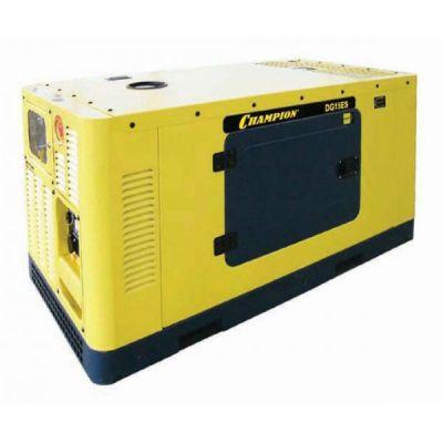 Генератор CHAMPION дизельный DG15ES-3 (18.75/20.6 кВА, 27.2 л.с. 50 л. 450 кг. 4 л/ч, эл.старт. счетч. ATS, доп.опция)