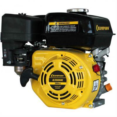 Двигатель CHAMPION бензиновый четырёхтактный G390HK (13 л.с. 389 см3, диам. 25,4 мм шпонка, 30,6 кг)