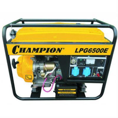 Генератор CHAMPION бензиново-газовый LPG6500E (газ 5/5.5 кВт, 25 л, 85кг, 2.9 л/ч, 12 V, эл.старт, счетчик, 32 А)