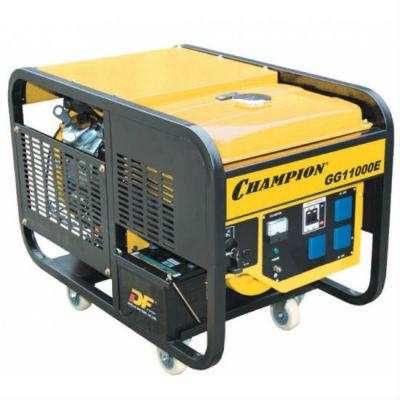 Генератор CHAMPION бензиновый GG11000E (8.5/9.5 кВт, 20 л.с., 25 л, 145 кг, эл.старт, колеса ATS доп.оп)