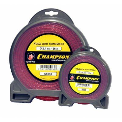 Леска триммерная CHAMPION Spiral Pro 2.4мм 15м (витой) C5050