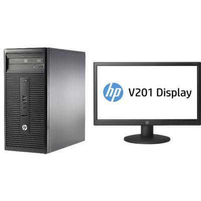 """Комплект HP Десктоп 280 G1 MT+ Монитор V201 19.5"""" L3E33ES"""