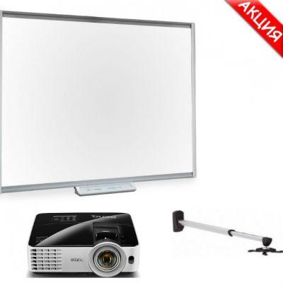 ������������� ����� SMART Technologies �������� ����� SBM680 + ��������������� �������� BenQ MX620ST + ��������� Digis DSM-14K