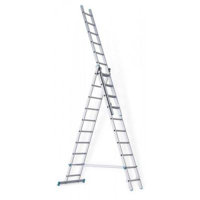 Sarayli Лестница трехсекционная промышленная, 1930 х 3030 х 1930/3030/4090 х 1815 х 2830 мм, 7 ступеней, 1307