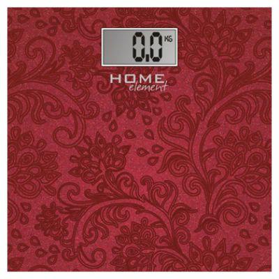 Весы напольные HOME-Element HE-SC904 burgundy