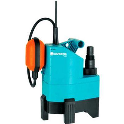 Насос GARDENA погружной дренажный 7500 Classic Dirty Water Pump, 0.34 кВт, 7500 л/ч, глубина 8 м, напор 6 м, 4.3 кг, 01795-20.000.00