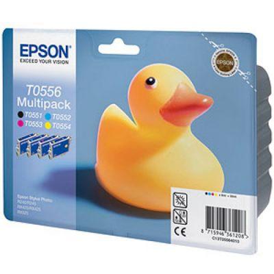 Картридж Epson набор R240/RX520 Black/Cyan/Magenta/Yellow - Черный/Голубой/Пурпурный/Желтый (C13T05564010)