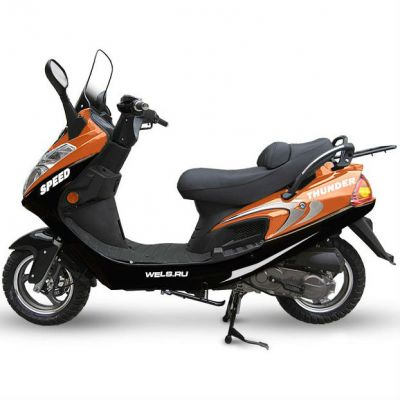 Скутер Wels Thunder (оранжевый)