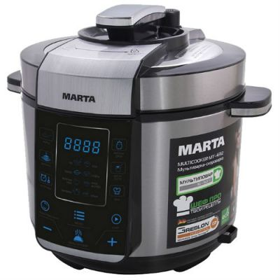 Мультиварка Marta MT-4312 black steel