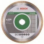 Диск Bosch алмазный, 200_25.4_1.6, по керамике, кафелю, сплошной, Professional Ceramic 2608602537