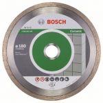 Диск Bosch алмазный, 180_22.23_2.2, по керамике, сплошной, Professional FPE, 2608602204