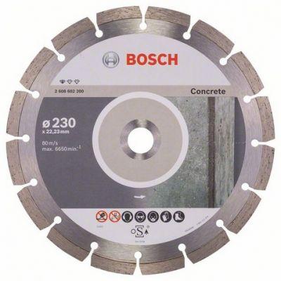 Диск Bosch алмазный, 230_22.23_2.3, по бетону, сегментный, Professional for Concrete, 2608602200