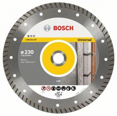 Диск Bosch алмазный, 230_22.23_2.5, универсальный, турбо, Professional for Universal, 2608602397