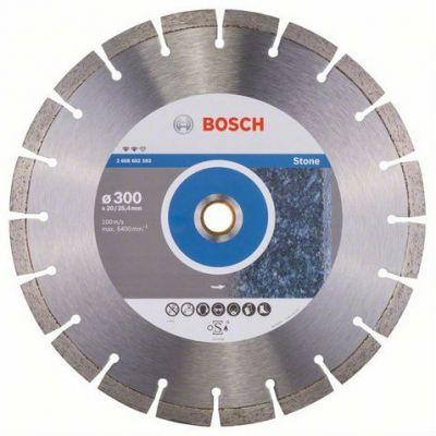 Диск Bosch алмазный, 300_25.4/20_2.8, по камню, сегментный, Expert for Stone, 2608602593