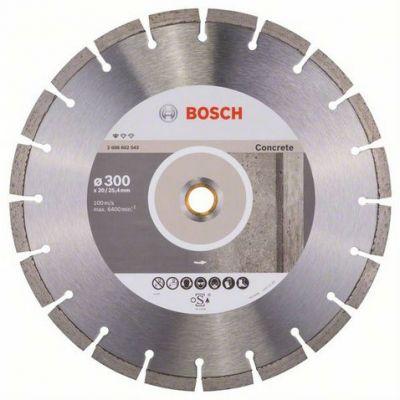 Диск Bosch алмазный, 300_25.4/20_2.8, по бетону, сегментный, Professional for Concrete, 2608602543