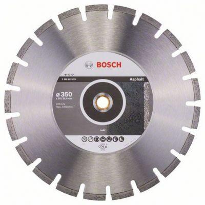 Диск Bosch алмазный, 350_25.4/20_3.2, по асфальту, сегментный, Professional for Asphalt, 2608602625