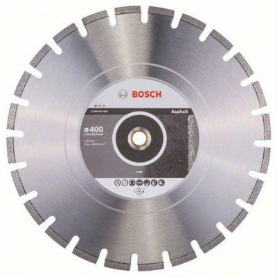 Диск Bosch алмазный, 400_25.4/20_3.2, по асфальту, сегментный, Professional for Asphalt, 2608602626