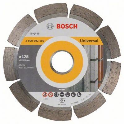 Диск Bosch алмазный, 125_22.23_1.6, универсальный, сегментный, Professional for Universal, 2608602192