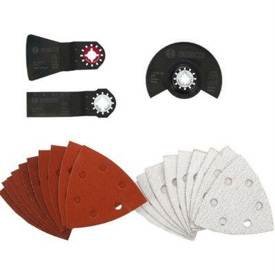Bosch Набор универсальный 23 предм. (пильн. диск, пильн. полотно, шабер, 2 набора шлиф. листов), 2609256977
