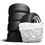 Пакеты для колес белые (1 шт.)