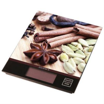 Кухонные весы Supra BSS-4097 (коричневые)