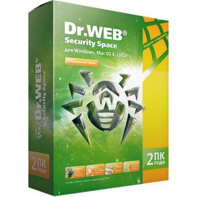 Антивирус Dr.WEB Security Space 2 ПК/2 года (0+) BHW-B-24M-2-A3