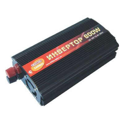СОЮЗ Автомобильный инвертор CAR600 metal 600 W, 600 Вт 12 В (клеммы+прикуриватель)