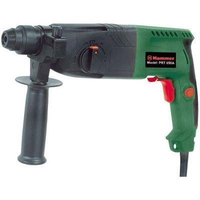 Перфоратор Hammer PRT650A, 650 Вт, SDS-plus, 24 мм, 0-1000 о/м, 2.2 Дж, 3 режима, кейс, 29256h