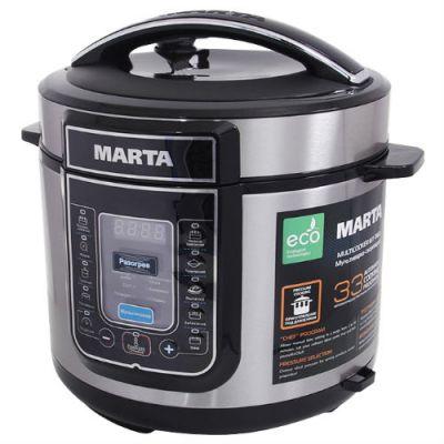 Мультиварка Marta MT-1963 (черный/сталь)