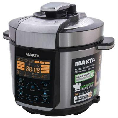 Мультиварка Marta MT-4309 (черный/серебристый)