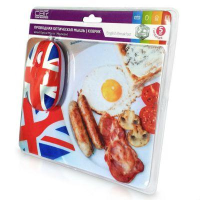 Мышь CBR English Breakfast + коврик