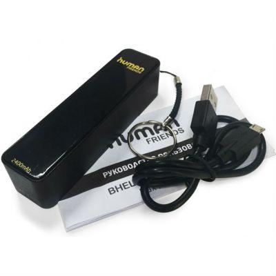 ������� ������� Human Friends Power Bank , ������������� �������� ���������� Stick 2400 mAh, 1A, 1 USB, micro USB