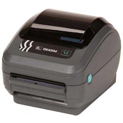 ������� Zebra DT Printer GK420d. 203 dpi, Euro and UK cord, EPL, ZPLII, USB, Ethernet, Dispenser (Peeler) GK42-202221-000