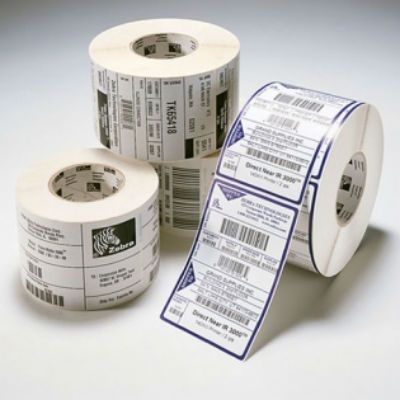 Zebra Этикетки термотрансферные Label, Paper, 102x102mm. Direct Thermal, Z-Select 2000D, Coated, Permanent Adhesive, 25mm Core, Perforation (700 labels per roll) 800264-405