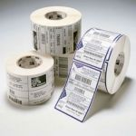 Zebra Этикетки термотрансферные Label, Paper, 102x102mm. Direct Thermal, Z-Select 2000D, Coated, Permanent Adhesive, 25mm Core, Perforation (700 labels per roll) 800264-405