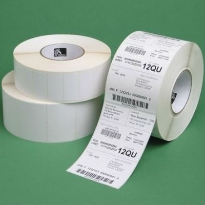 Zebra �������� ���������������� Label, Paper, 102x102mm. Thermal Transfer, Z-Perform 1000T, Uncoated, Permanent Adhesive, 25mm Core (662 labels per roll) 87604