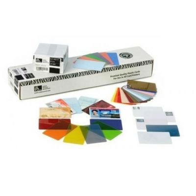 Zebra Пластиковые карточки white PVC cards 104523-010